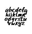 alphabet letters black handwritten font drawn vector image vector image