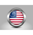 American Betsy Ross Flag Metal and Glass Round Ico vector image vector image