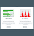 analytics and statistics information vector image vector image