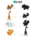animation silhouettes of animals for the vector image vector image