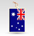 australian made in tag vector image vector image