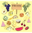 Background with fruit1-07 vector image vector image
