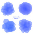 blue watercolor blotch set of blue watercolor vector image vector image