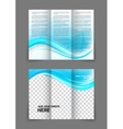 Blue wave brochure vector image vector image