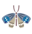 butterfly geometric flat vector image