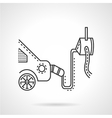 Car emission control device line icon vector image vector image