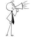 cartoon of businessman boss or manager talking vector image