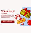 christmas sale banner vector image