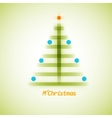 Christmas tree icon on a simple background vector image vector image