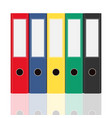 closed office binders set isolated on white vector image vector image