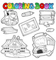 coloring book school collection 1 vector image vector image