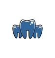 dental tooth dentist logo vector image vector image