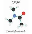 Dimethylacetamide C4H9NO molecule vector image vector image