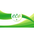 eco theme abstract green yellow background vector image