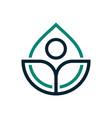 eco water drop logotype vector image