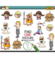 educational kindergarten task vector image vector image