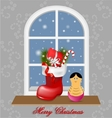 Elegant Christmas decorative background vector image