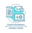 email newsletters turquoise concept icon vector image vector image