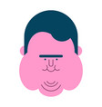 fat guy face glutton thick man head fatso vector image