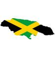 Flag in map jamaica