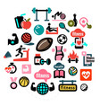 flat fitness icons 1 vector image