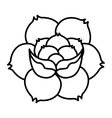 flower drawing tattoo style isolated icon vector image vector image