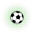 Football ball icon comics style vector image vector image