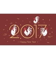 For the new year 2017 with a rooster
