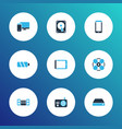 gadget icons colored set with hard drive vector image vector image