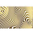 golden zebra background vector image vector image