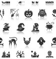 halloween seamless pattern black with reflection vector image
