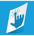 Hand cursor sticker vector image