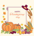 happy thanksgiving background with seasonal vector image vector image