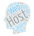 How To Choose A Web Host text background wordcloud vector image vector image