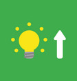 icon concept of glowing yellow light bulb with vector image