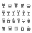 Icon set - glass and beverage vector image vector image