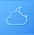 icon weather moon and cloud vector image