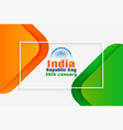 indian national republic day creative background vector image vector image