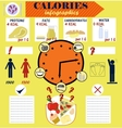 infographic counting calories calorie diet vector image