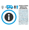 Information Icon with 1000 Medical Business vector image vector image