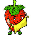 isolated funny cartoon red berry with fabric vector image vector image