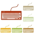 Keyboard simple sign vector image vector image