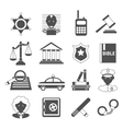 Law icons white and black vector image vector image