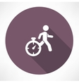 man running out of time icon vector image vector image