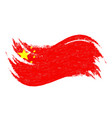 national flag of china designed using brush vector image vector image