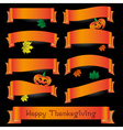 orange various curved ribbons for happy vector image vector image