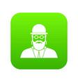 orthodox jew icon digital green vector image