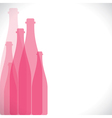 pink bottle background vector image