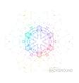 Plexus Iridescent Geometric Wreath vector image vector image