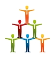 pyramid teamwork people isolated icon vector image vector image